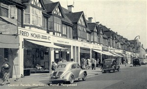 Marlowes Central Parade in the 1950s | Hertfordshire Archives and Local Studies,     TVAP Oxford Series LXXXII
