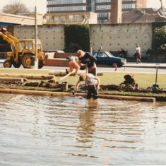 Re-turfing in 1983 | Ray Swan