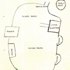 Berkhamsted Castle (diagram) and Entrance ticket | Fay Bryant