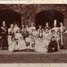 Elsie is 4th from the right in the back row. I would love to know who the other girls are, and the occasion? There is a globe in the middle, so perhaps they were celebrating Empire Day? | T Banning, Berkhamsted