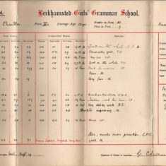 Elsie did not do well at school, but her reports show the range of subjects that were taught. This report, from 1906, shows the Junior School curriculum.