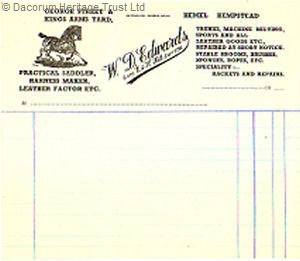 A business invoice from the shop | Dacorum Heritage Trust Ltd