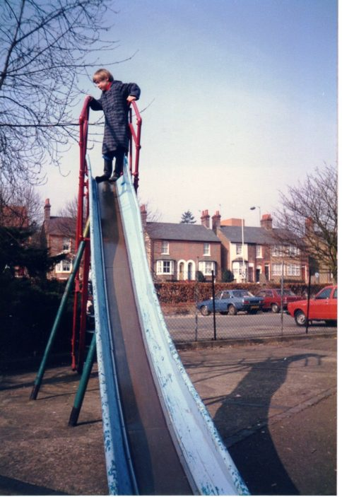 Exciting slide before the new car park was built | David Warriner